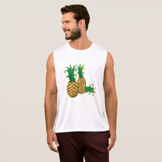 three pineapples fruit tank top