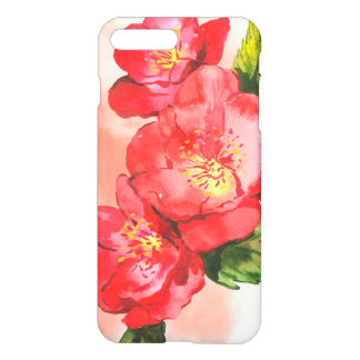 Three Pink and Red Watercolor Roses iPhone 8 Plus/7 Plus Case
