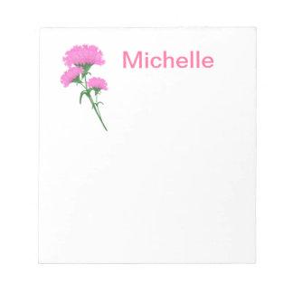 Three Pink Carnations Notepad