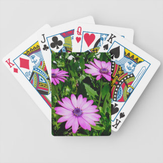 Three Pink Daisy Flowers Bicycle Playing Cards