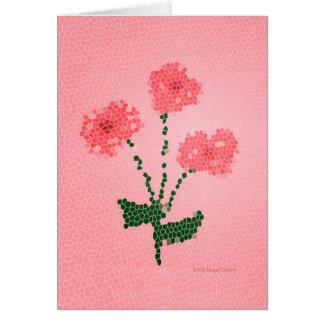 Three Pink Flowers Card