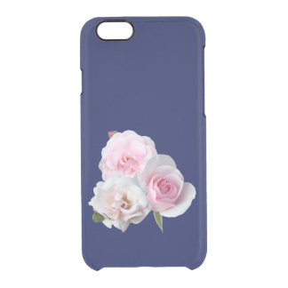 Three pink roses. clear iPhone 6/6S case