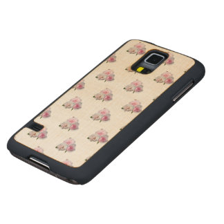 Three pink roses. Floral pattern. Carved Maple Galaxy S5 Case