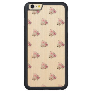 Three pink roses. Floral pattern. Carved Maple iPhone 6 Plus Bumper Case