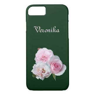 Three pink roses. iPhone 8/7 case