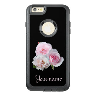 Three pink roses. OtterBox iPhone 6/6s plus case