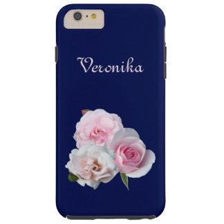 Three pink roses. tough iPhone 6 plus case