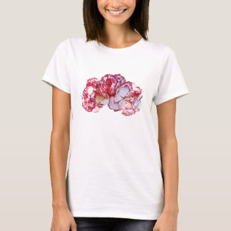 Three Pink-Tipped Carnations Ladies T-Shirt