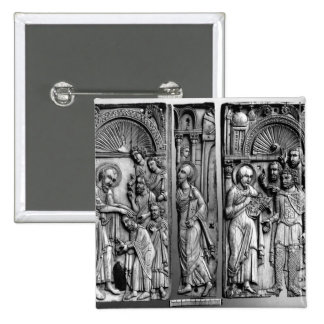 Three Plaques from the throne 2 Inch Square Button