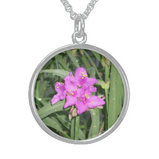 Three Pointed Pink Flower Necklace