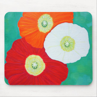 Three Poppies Mouse Pad