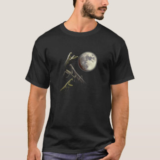 Three Praying Mantis And Moon T-Shirt