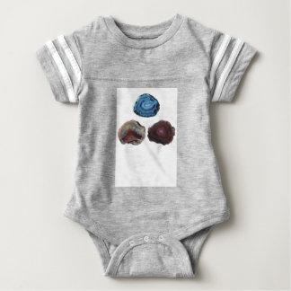 Three Pretty Rocks Baby Bodysuit