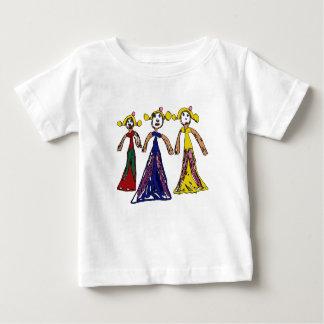 Three Princesses Baby T-Shirt