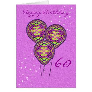 Three Purple Balloons (add photograph inside) Card