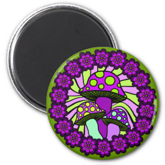 Three Purple Mushrooms Magnet