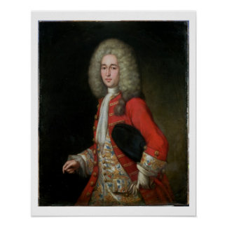 Three-Quarter Length Portrait of a Gentleman Weari Poster