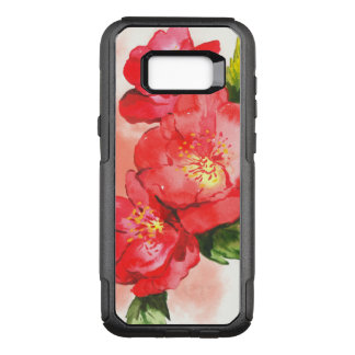 Three Red and Pink Watercolor Roses OtterBox Commuter Samsung Galaxy S8+ Case