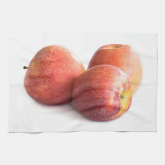 Three red apples kitchen towel