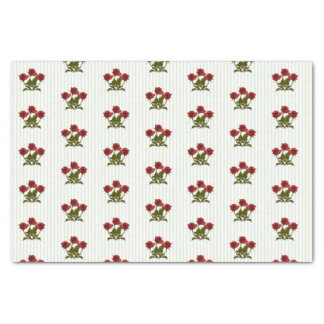 Three Red Roses Floral Photography Pattern Tissue Paper