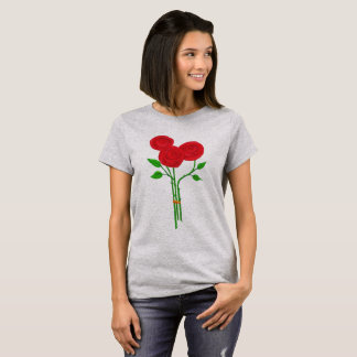 Three Red Roses T-Shirt