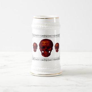 Three Red Skulls 18 Oz Beer Stein
