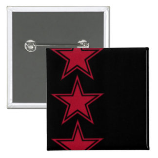 Three Red Stars Pinback Button