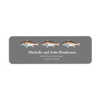 Three Redfish on Gray