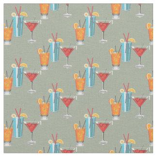 Three Retro Cocktails Fabric