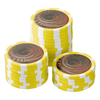 Three-Ring Circus Striped Symbol Fractal Circles Poker Chips