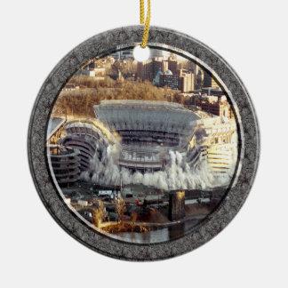 Three Rivers Stadium-Ornament-2 sided Round Ceramic Ornament