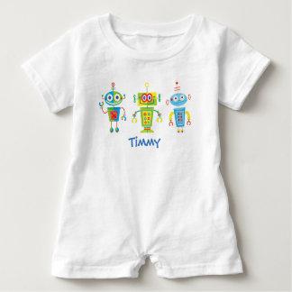 Three Robots Baby Romper