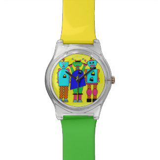 Three Robots Wrist Watch