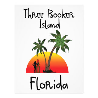 Three Rooker Island Florida Letterhead Design