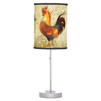 Three Roosters Desk Lamps