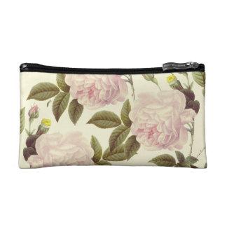Three Rose Cream Makeup Bag