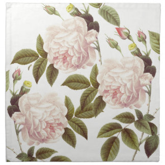 Three Rose Cream Napkin