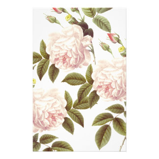 Three Rose Cream Stationery