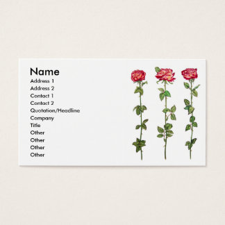 Three Roses Business Card