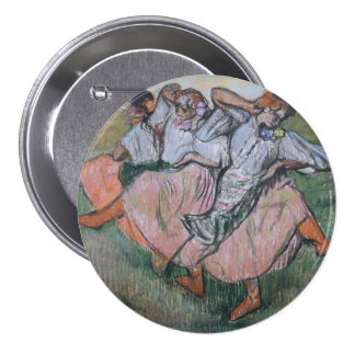 Three Russian Dancers by Edgar Degas 3 Inch Round Button