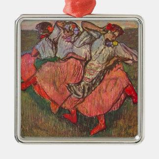 Three Russian Dancers by Edgar Degas Metal Ornament