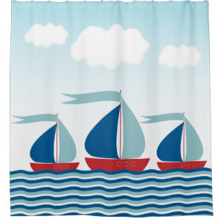 Three Sailboats on Water Waves, Nautical