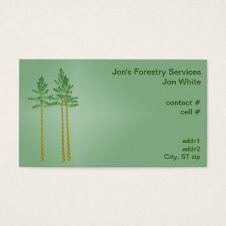 Three sawtimber sized pine trees business card