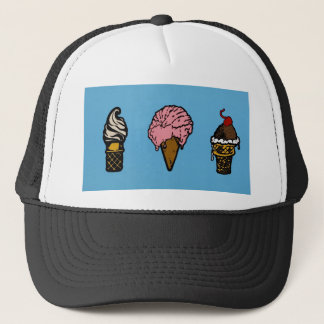 """THREE SCOOPS"" TRUCKER HAT"