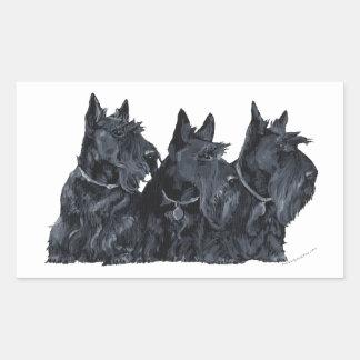 Three Scottish Terriers Sticker