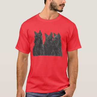 Three Scottish Terriers T-Shirt