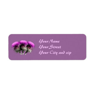 Three Scottish Thistles Return Address Label
