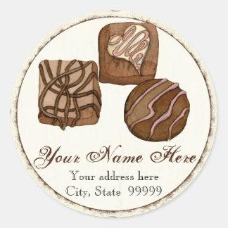 Three Scrumptious Chocolates,  Address Stickers