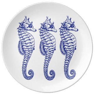 Three Seahorse Plate