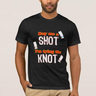 Three Shot Glasses For Groom - Dark Background T-Shirt